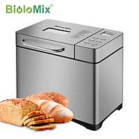 Máy làm bánh mì tự động cao cấp BioloMix BBM013 công suất 650W, với nhiều chương trình tự động làm bánh - Hàng Chính Hãng