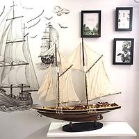 Mô Hình Thuyền Gỗ Bluenose - Thân 60cm - Gỗ Tự Nhiên