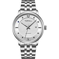Đồng hồ nam máy cơ tự động dây thép chính hãng Thụy Sĩ TOPHILL TA032G.S1238