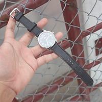 Dây đồng hồ Da dê đen 2 lớp [ kèm khoá + 1 tool thay dây ]