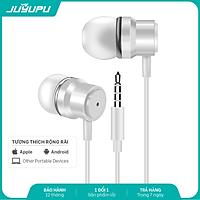 Tai nghe JUYUPU K3L jack 3.5mm nhét tai chống ồn tai nghe có dây dành cho iPhone Samsung OPPO VIVO HUAWEI XIAOMI - HÀNG CHÍNH HÃNG