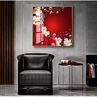 Tranh treo tường Mica Decor Hoa Hồng cao cấp. (Bộ 1 bức), Khung hợp nhôm chống ẩm, bền, đẹp, nhiều kích thước. Phù hợp nhiều không gian sang trọng.
