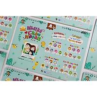 Bảng nhật Ký Chăm Ngoan - Kèm 640 STICKER Khen Thưởng siêu dễ thương cho bé