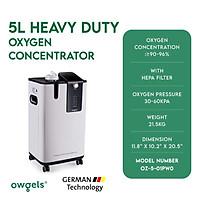 Máy tạo oxy 5 lít phiên bản mới 2021 Owgels- Mã sản phẩm: OZ-5-01PW0