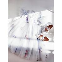 Váy công chúa bé gái mùa hè tay đổ thêu chuồn chuồn cho bé 3-12 tuổi