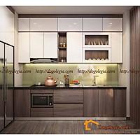 Mẫu Tủ Bếp Gỗ Hiện Đại Màu Sang Trọng LG-TB062