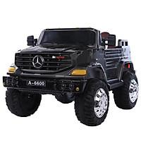 Ô tô xe điện đồ chơi MERCEDES A6600 cho bé 2 chỗ 4 động cơ (Đỏ-Trắng-Đen-Xanh)