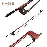 NAOMI VB0908-030 Classic Brazilwood 4/4 Violin Bow Light Weight Proper Balance Mongolian Horsehair Bow Hairs Ebnoy Frog