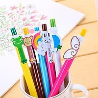Bút bi bấm nhiều hình dễ thương mực xanh nguồn hàng giá rẻ