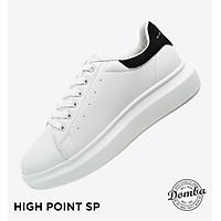 Giày Domba gót nhung đen H-9011