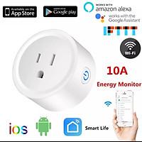Hight Quaity (Thống kê điện năng) Ổ cắm wifi 10A US Smart Life Hẹn giờ thông minh