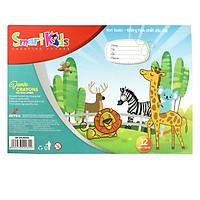 Sáp Màu Jumbo Khay Nhựa SK-CRJB004 (12 màu/hộp)