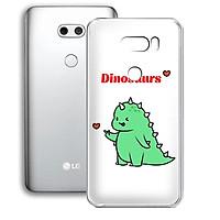 Ốp lưng dẻo cho điện thoại LG V30 - 01253 7877 DINOSAURS04 - Khủng long dễ thương - Hàng Chính Hãng
