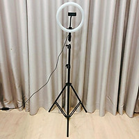 Bộ tripod, giá đỡ livestream có đèn Led 3 chế độ (26cm), kèm kẹp điện thoại - Hỗ trợ ánh sáng chụp ảnh, livestream