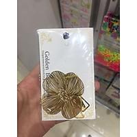 Bookmark kim loại mặt dây chuyền sáng tạo - Hoa Violet vàng