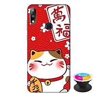 Ốp lưng cho điện thoại Asus Zenfone Max Pro M2 hình Mèo May Mắn Mẫu 4 tặng kèm giá đỡ điện thoại iCase xinh xắn - Hàng chính hãng