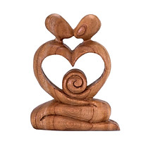 Kết tinh hạnh phúc – tượng gỗ điêu khắc thủ công trừu tượng – quà tặng nghệ thuật trang trí nhà – bộ sưu tập love