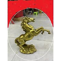 Decor trang trí để bàn - Ngựa hí màu gold (kt 27x28cm)