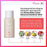 [Mini] Sữa dưỡng thể làm trắng da, dưỡng ẩm, ngừa ngừa lão hóa Huxley Body Lotion Moroccan Gardener 30ml