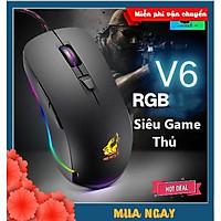 CHUỘT GAMING XSmart FREE WOLF V6 Premium LED RGB, Nhiều Chế Độ Led Khác Nhau, Chơi Mọi Tựa Game Trên Máy Tính, PC, Laptop - Hàng Chính Hãng