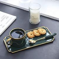Set bát đĩa ăn sáng xanh cổ vịt bằng sứ
