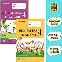 Sách - Combo Bài Tập Tuần và Đề Kiểm Tra Tiếng Anh lớp 4 học kì 1 (2 cuốn)