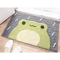 Thảm chùi chân ếch xanh mền mịn chống nước