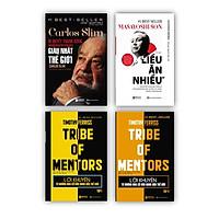 Bộ 4 cuốn sách bài học từ các doanh nghiệp KZ : Carlos Slim: Bí quyết thành công của người đàn ông giàu nhất thế giới + Masayoshi – Tỷ phú liều ăn nhiều + Lời khuyên từ những nhà cố vấn hàng đầu thế giới – Tribe of mentor (Tập 1 + Tập 2)