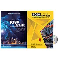 Combo 2 sách: 5099 Từ Vựng HSK1 – HSK6 Từ Điển Tam Ngữ Anh – Trung – Việt + 1099 Từ Ghép Tiếng Trung Thông Dụng (Kèm ví dụ, tiếng Anh, tiếng Trung giản thể, tiếng Trung phồn thể, bính âm, tiếng Việt, tiếng Trung bồi) + DVD Audio tài liệu
