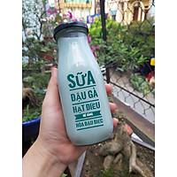 Chai thủy tinh đựng sữa hạt , nước trái cây 330ml - 6 chai