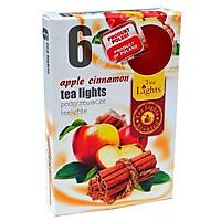 Hộp 6 Nến Thơm Tealight Admit Apple Cinnamon (Hương Táo, Quế)