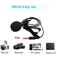 Micro thu âm kẹp áo dùng cho máy tính, laptop, máy ảnh DSLR hỗ trợ học online, video call