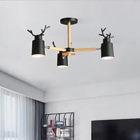 Đèn chùm NOTERSE sừng hươu 3 tay kiểu dáng độc đáo, hiện đại - kèm bóng LED chuyên dụng.