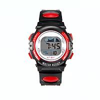 Đồng hồ điện tử trẻ em Rsp1,mặt tròn dây nhựa,hiển thị giờ,ngày tháng và đèn.