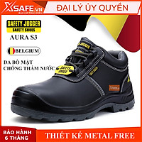 Giày bảo hộ lao động nam Jogger Aura S3 ESD SRC da bò cao cấp, cấu tạo phi kim, chống trượt, chống tính điện ESD