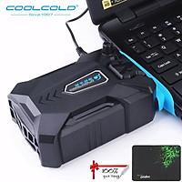 Quạt Hút Tản Nhiệt Laptop Chuyên Dụng Cao Cấp Cho Game Thủ CoolCold  K27 Cắm Cổng USB - Kèm Bàn Di Chuột (Màu Giao Ngẫu Nhiên) - Hàng Chính Hãng)