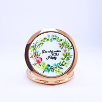 Gương Thêu Tay, Gương Trang Điểm Mini - Họa Tiết Thêu Tay Đẹp, Thiết Kế Nhỏ Gọn Bỏ Vào Ví Nữ Dễ Dàng -  Quà Tặng Sinh Nhật Cho Bạn Gái