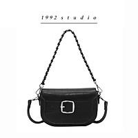 Túi xách nữ/ 1992 s t u d i o/ NAVIE BAG/ màu đen khoá cá tính/ 2 dây