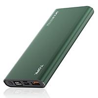 Pin dự phòng sạc nhanh TOPK 10000mah 10W vỏ nhôm có IC bảo vệ thiết bị và đồng hồ hiển thị dung lượng - Hàng chính hãng