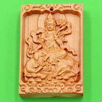 Mặt gỗ ngọc am phật bản mệnh Phổ Hiền Bồ Tát