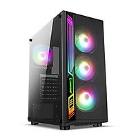 Vỏ Case Infinity Sense led RGB (kính cường lực) - Hàng Chính Hãng