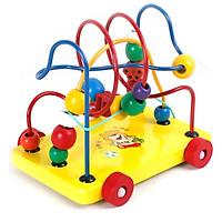 Xe xâu chuỗi luồn hạt gỗ, đồ chơi an toàn cho bé giúp trẻ kích thích giác quan hỗ trợ phát triển trí tuệ bằng đồ chơi thông minh