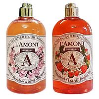 Combo 2 Sữa Tắm L'amont En Provence Anh Đào và Dâu Tây 500ml/chai