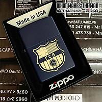 Bật Lửa Zippo 239 Xanh Đen Khắc Fc Barcelona 03 – Zippo 239.Fcb03