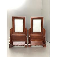 Combo 2 ảnh thờ gỗ hương mẫu khung trơn cỡ ảnh (10x15) - BH150