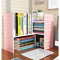 Kệ sách gỗ để bàn văn phòng lắp ghép MS 04