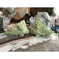 Cặp Tỳ Hưu phong thủy đá ngọc Onyx - Dài 20 cm