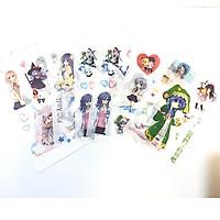 Ảnh dán 6 tấm Date A Live Cuộc hẹn sống còn anime chibi dễ thương tặng ảnh thiết kế Vcone