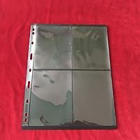 Phơi 4 ngăn đen dọc, dùng để đựng tem, có 2 mặt, tổng cộng 8 ngăn. Chất liệu nhựa tổng hợp, dẻo dai, bền chắc. Vật dụng sưu tầm hữu ích - SP001143