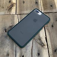 Ốp lưng chống sốc dành cho iPhone 7 Plus / iPhone 8 Plus nút màu cam - Màu xanh đậm